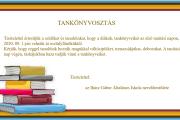 Tankönyvosztás 2020